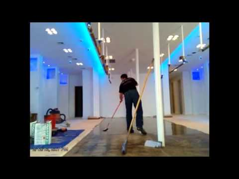 Self Leveling Concrete And Epoxy Installation Youtube