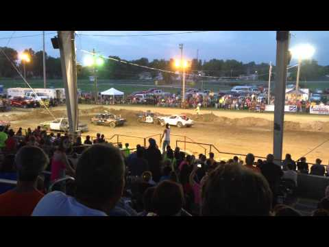 Union County Il. Demolition Derby heat 2, compact cars