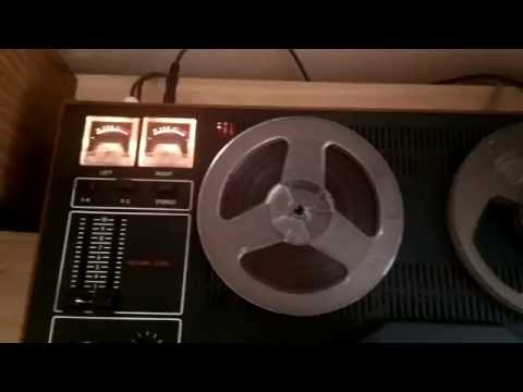 Storing digital data on an analog reel-to-reel magnetic tape with AFSK