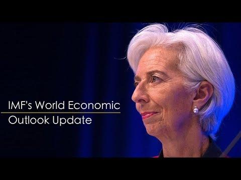 Live: IMF's World Economic Outlook Update国际货币基金组织总裁拉加德在达沃斯发表演讲