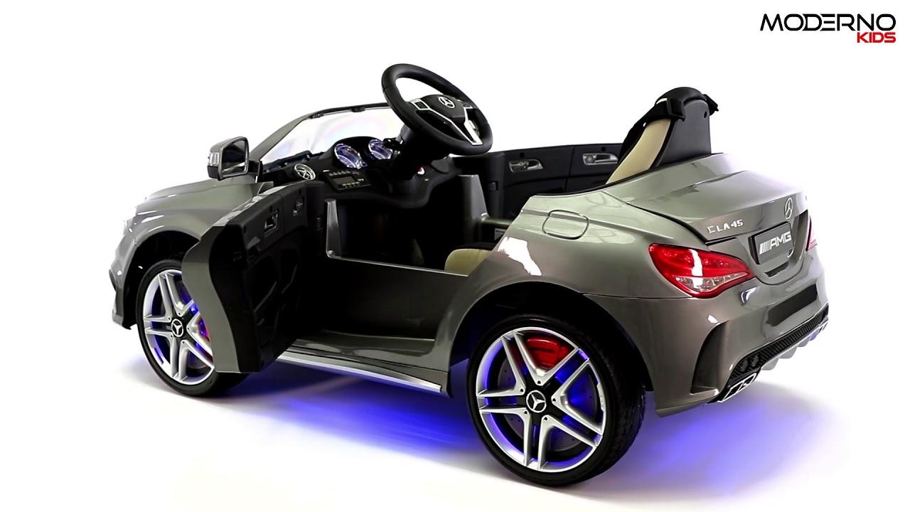 Mercedes Benz Cla45 12v Kids Ride On Car With R C Parental Remote