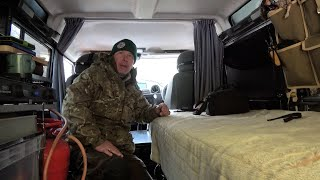 Land Rover Defender Camper - Cold Weather Camping