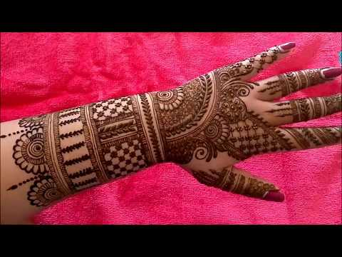 Beautiful Indian Bridal Heena Mehndi Design for Hand 2018
