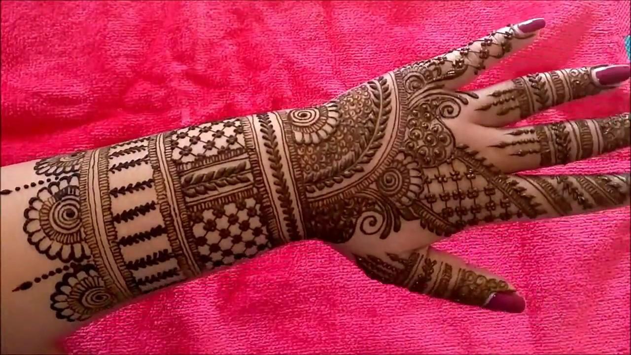 Beautiful Indian Bridal Heena Mehndi Design for Hand 2018