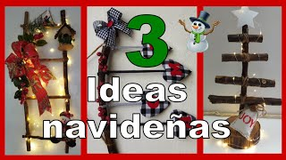 3 DECORACIONES NAVIDEÑAS PARA TU HOGAR / Manualidades navideñas 2021 / Christmas crafts for the home