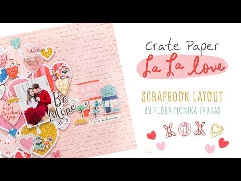 La La Love Layout with Flora