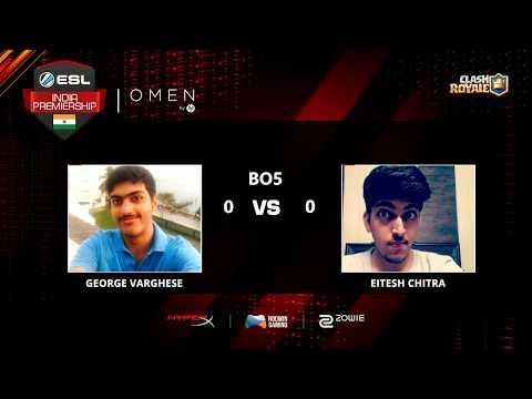 George Varghese Vs Eitesh Chitra | ESL India Premiership 2017 | September | Challenger Playoffs
