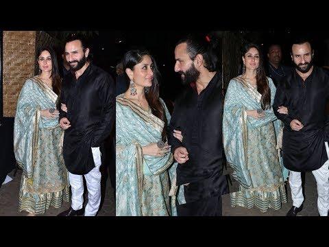 Kareena Kapoor Khan and Saif Ali Khan celebrating  prithvi festival in traditional attires