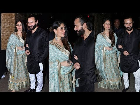 Kareena Kapoor Khan and Saif Ali Khan celebrating prithvi festival in traditional attires