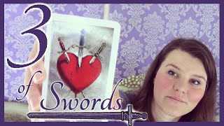 3 Three of Swords Tarot Card Meaning Upright & Reversed