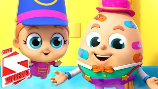 Humpty Dumpty Sat On A Wall | Horse Song | Nursery Rhymes for Babies | Kids Song with Super Supremes