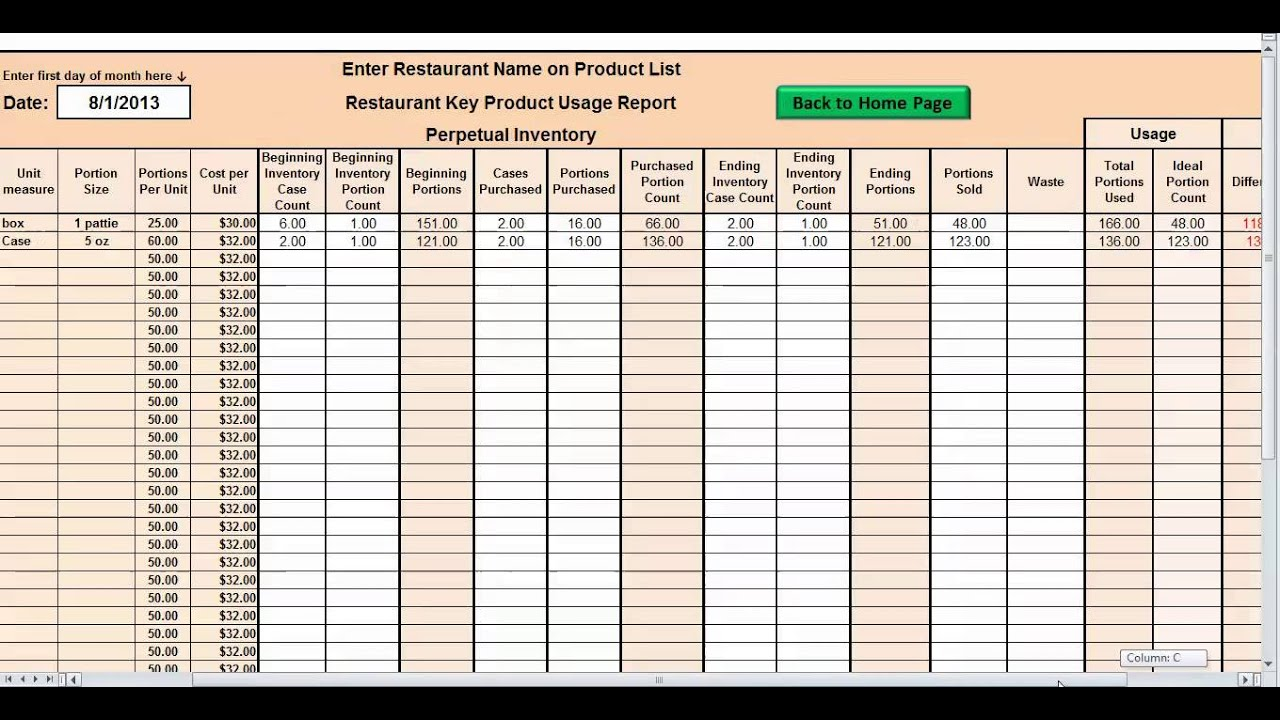 Restaurant Kitchen Management Forms fine restaurant kitchen inventory template food perpetual inside