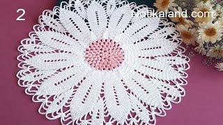 CROCHET How to crochet doily 3  EASY Tutorial Part 2, 6  - 9 round