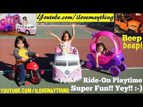 Toys R Us Toys, Disney Princess Carriage, Volkswagen Power Wheels And Disney Cars Ride-On