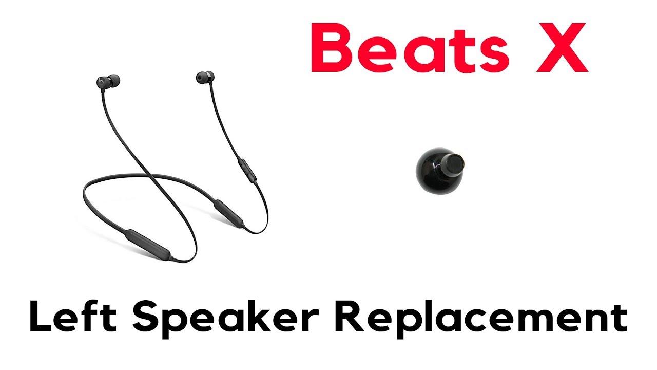 How to: Beats X Blown Bad Left Speaker Replacement Repair