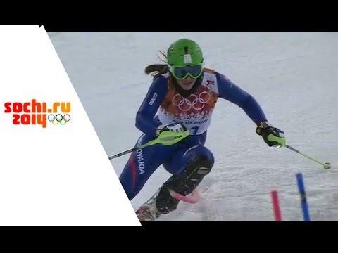 XXII Зимние Олимпийские игры.Горнолыжный спорт.Женщины.Слалом.2-ая попытка