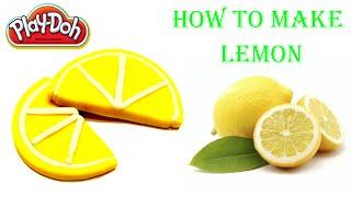 как сделать лимон из пластилина