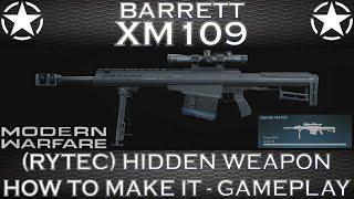 Modern Warfare Barrett XM109 (Rytec AMR) Hidden Weapon - How To Make It - Gameplay | Call Of Duty
