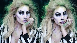 BEETLEJUICE HALLOWEEN MAKEUP | DESI PERKINS