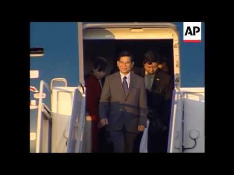 Arrival of Vietnamese president in Washington