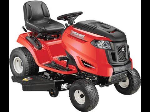 Troy Bilt Lawn Tractor Oil Change Youtube