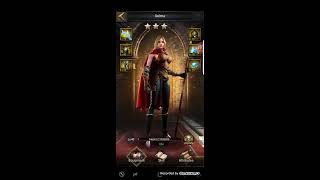 Clash of kings forged queen of war set and tried it on selma