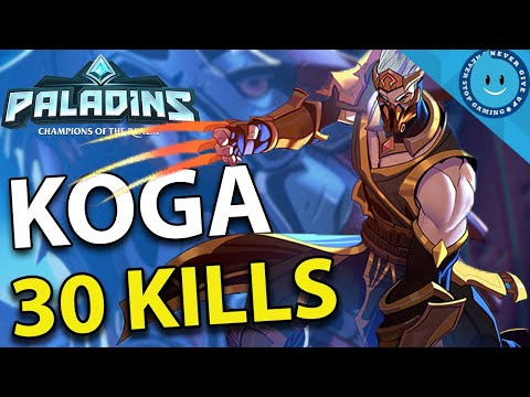 KOGA INFINITE SUSTAIN BUILD! 30 KILLING BLOWS! INSANE FIGHTS! (Paladins Gameplay)