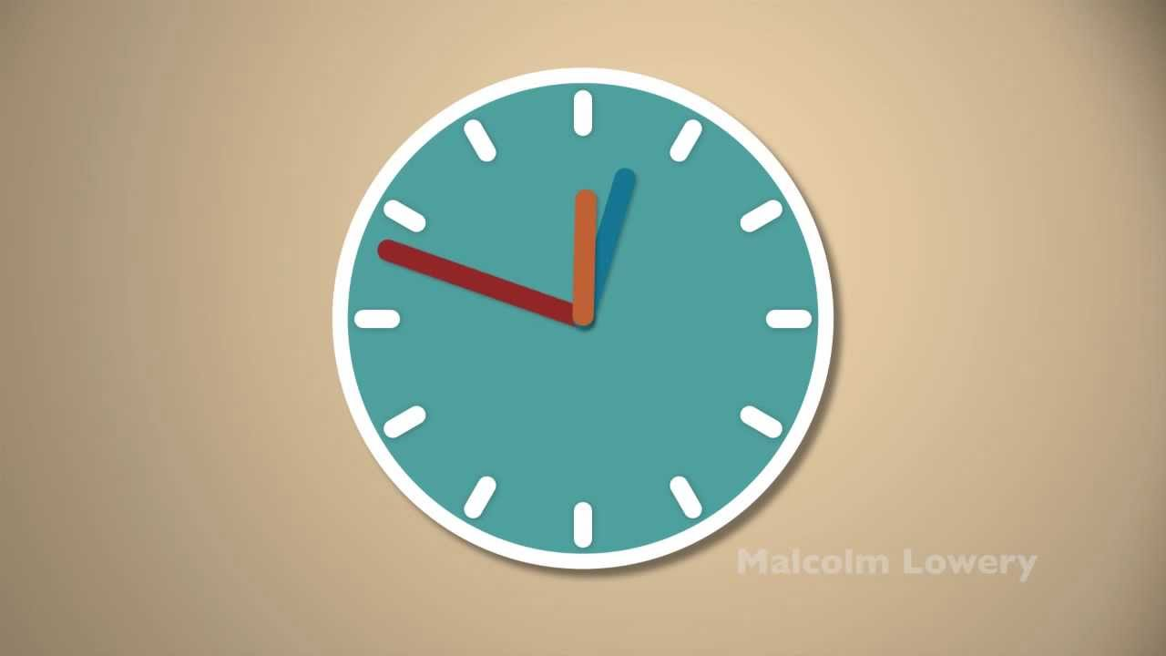 Clock Animation - Motion Graphic - YouTube