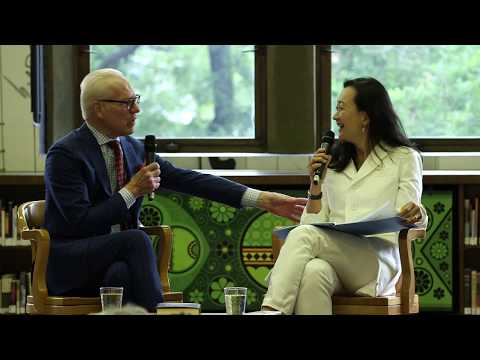 Notes from the Reading Life with Tim Gunn and Min Jin Lee at the Jefferson Market Library, New York