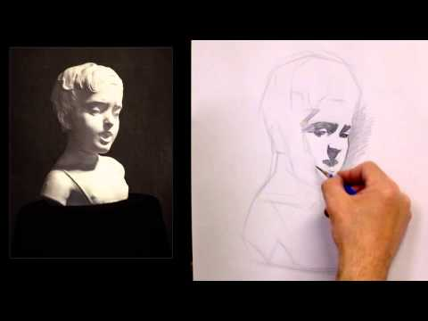 Classical Realist Drawing Method- Drawing from the Centre Out