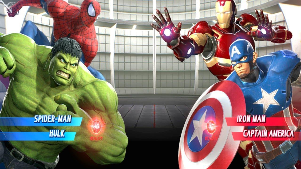 spiderman and hulk vs