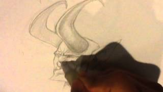 How to Draw the Devil - Shading Technique (commentary)