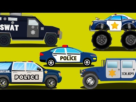 Thumbnail: police cars | emergency vehicles | kids car cartoons
