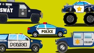 police cars | emergency vehicles | kids car c...