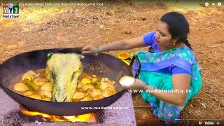 Village Girl Cooking Mutton Head Curry