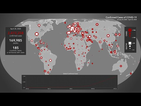 Animated Maps: Confirmed Cases of COVID-19 from January 22 to April 20 (4K)