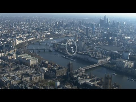 London in Lockdown: Aerial shots show famous landmarks deserted due to coronavirus