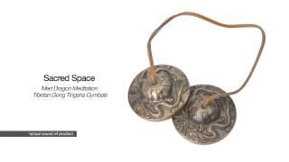 Sacred Space Med Dragon Meditation Tibetan Gong Tingsha Cymbals | SwimOutlet.com