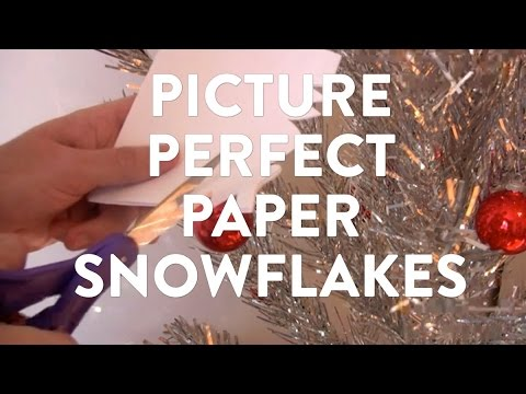 How to make letters in a paper snowflake?
