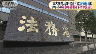 重大な罪の少年実名報道可能に 自民公明が法改正へ(20/07/31) - YouTube