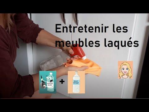 Nettoyer Facilement Les Meubles Laques Cuisine Salle A Manger Salle De Bains Youtube