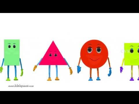 Learn Shapes For Children - 3D Animation learning shapes Song for children
