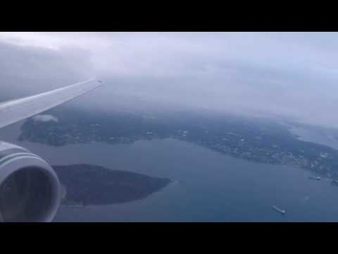Alaska 737-900 Landing in Seattle