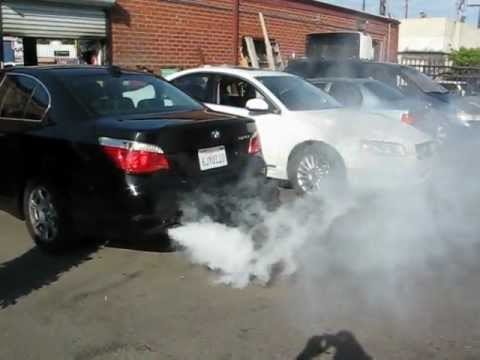 BMW 525I SMOKE PROBLEM.....CVV PROBLEM ( PART 1 )   YouTube