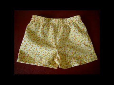 Short infantil simples com molde de 1 a 6 anos super fácil - YouTube d823dad04aced