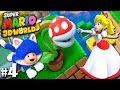 Super Mario 3D World: 2P Co-Op! - Snacking on Peach PART 4 (Nintendo Wii U HD Gameplay Walkthrough)