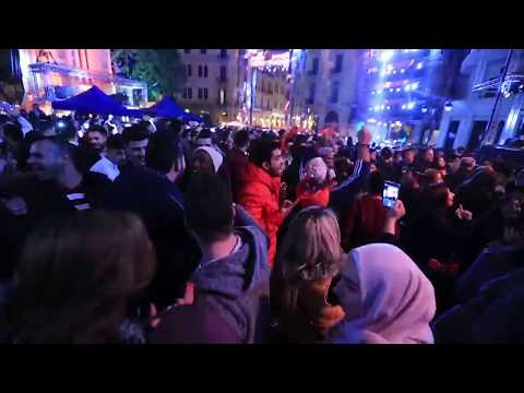 Beirut Celebrates 2018: The New Year's Eve Party on Nejmeh Square, Beirut - Lebanon