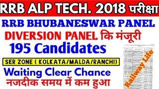 Waiting list clear chance कम हुआ RRB Kolkata RRB Ranchi & RRB Malda Bhubaneswar ALP diversion panel