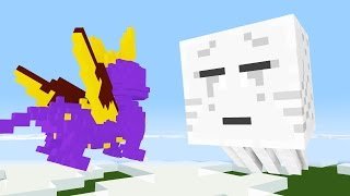 Monster School: Pokemon Go and Spyro the Dragon -- Cubic Minecraft Animation
