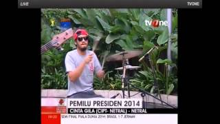 Video Netral - Cinta Gila (Live) @ Apa Kabar Indonesia TV One 09/07/2014 download MP3, 3GP, MP4, WEBM, AVI, FLV Maret 2018